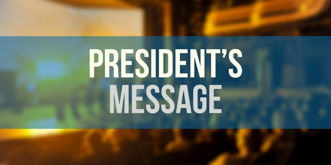 Presidents message banner